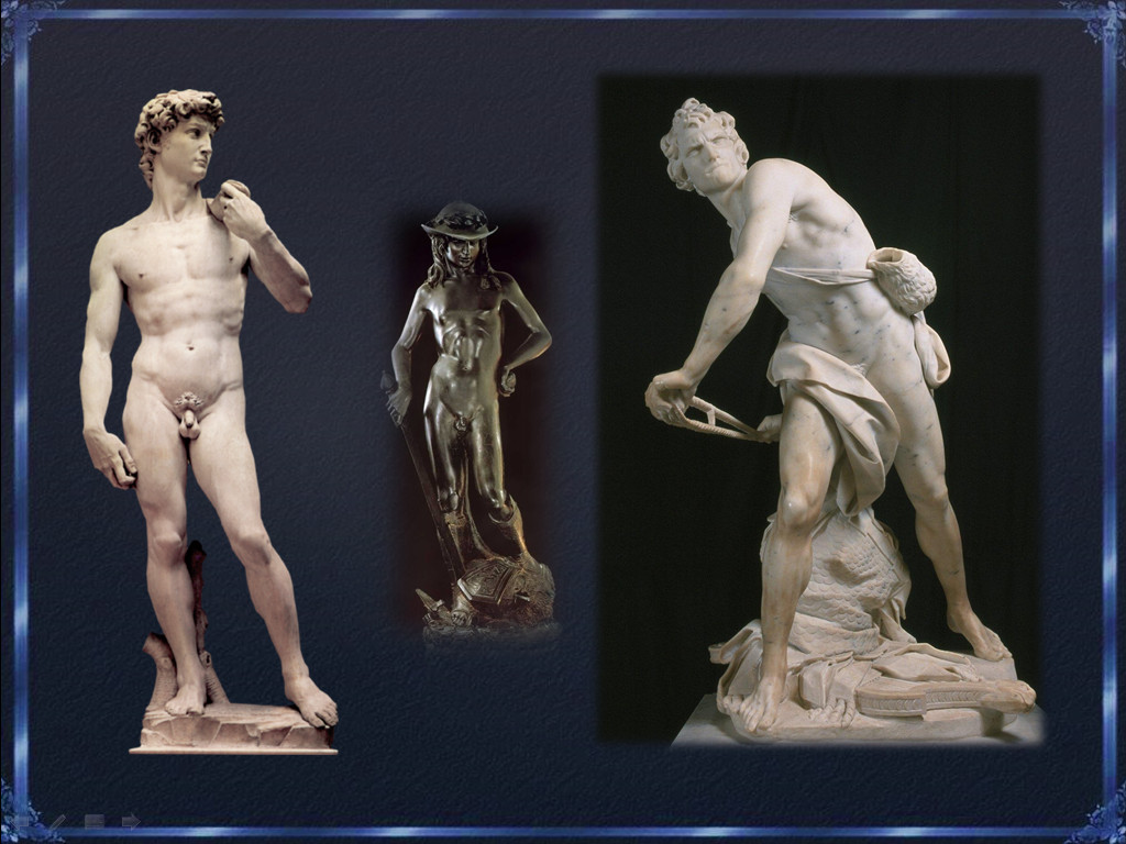 michelangelo vs bernini in david Bernini, donatello and michelangelo were three among other artists who sculpted the image of david donatello's david was sculpted nearly a century before michelangelo's famous sculpture of the same name.